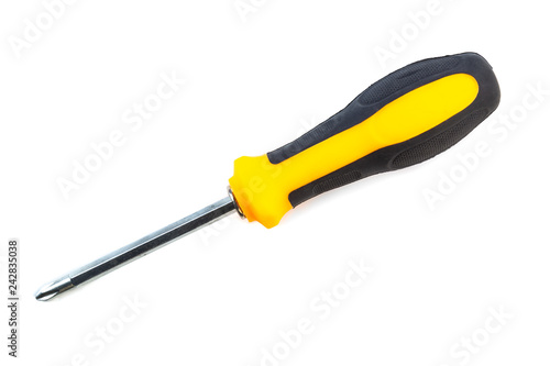 Fotografie, Obraz  Screwdriver cut out on white background.