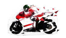 Road Motorbike, Low Polygonal ...
