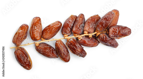 Sweet dried dates on white background Canvas-taulu