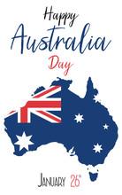 Australia Day. 26 January. Vector Illustration