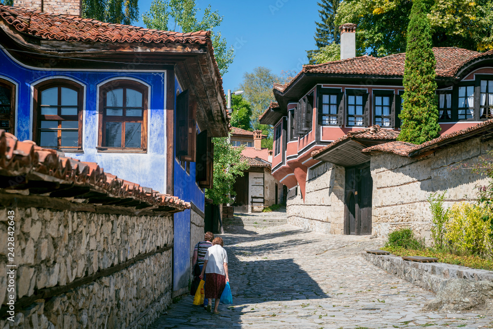 Fototapety, obrazy: The street in Koprivshtitsa town,  Bulgaria