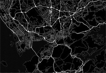Dark Area Map Of Shenzhen, China