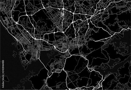 Dark area map of Shenzhen, China
