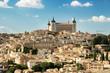 Toledo, Castilla-La Mancha, Spain. Old medieval town city skyline. Cityscape at the Alcazar.