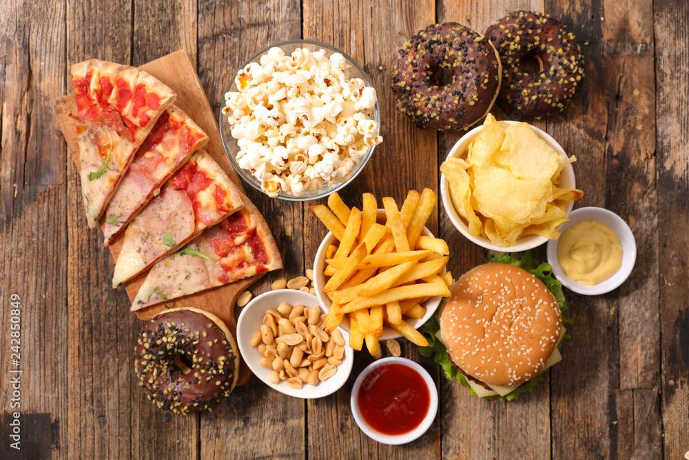 Fototapety, obrazy: assorted fast food, junk food