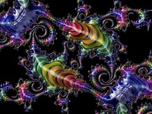 Abstract Rainbow Textured Fractal Pattern, 3d Render For Creative Art, Design And Entertainment. Background For Brochure, Website, Flyer Design.