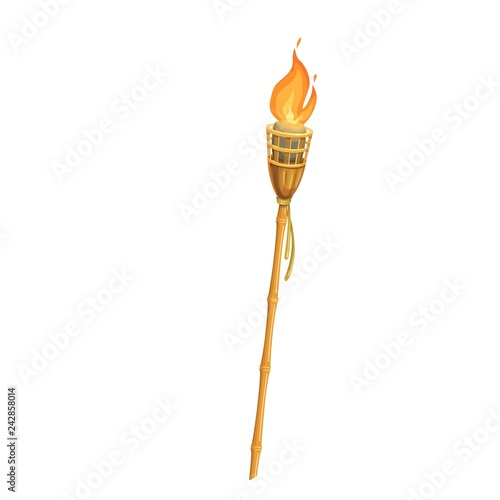 Canvastavla Torch, flame, fire vector