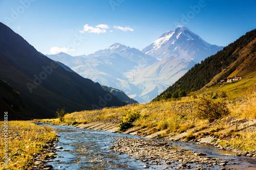 Fotografie, Obraz  Captivating scene of the alpine valley in sunlight