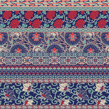 Traditional  Chinese Fabric Patchwork Wallpaper  Vector Seamless  Pattern