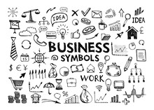 Hand Drawn Business Symbols.
