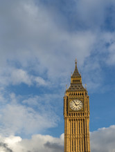 Big Ben Clock Tower Against A ...