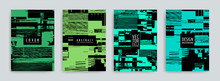Set Of Abstract Background Cover Designs. Screen Error Effect. Failure. Vector Graphics. Abstract Background Strokes. Editable Color