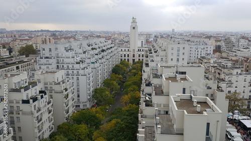 Fotografia Villeurbanne Rhône - l'avenue Henri Barbusse et le beffroi depuis les Gratte-cie