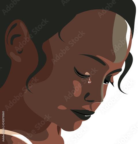 Obraz na plátně Violenza domestica, donna depressione, maltrattamento, picchiare, ragazza, bambina, violenza sulle donne