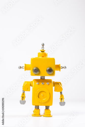 Robot on a white background. Wallpaper Mural