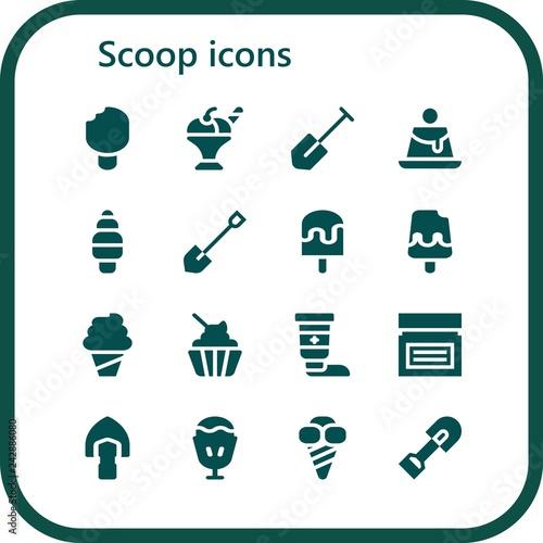 Fotografía  scoop icon set