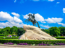 The Bronze Horseman  Equestrian Statue Of Peter The Great In Saint Petersburg Created Falconet In 1770