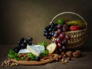 Obraz na Szkle Do jadalni Camembert Cheese Still Life