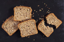 Bread With Pumpkin Seeds, Sunflower And Flax