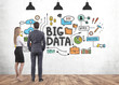 canvas print picture - Business partners, big data