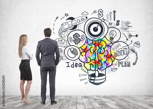Staande foto Hoogte schaal Business partners, business idea