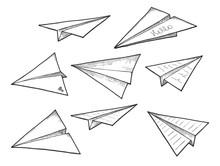 Paper Air Planes Set