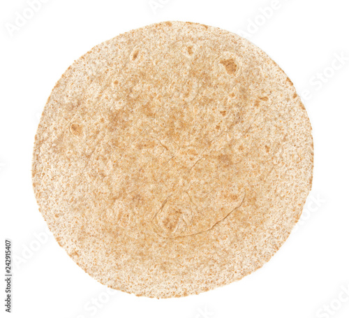 Fotografie, Obraz  whole grain tortilla isolated