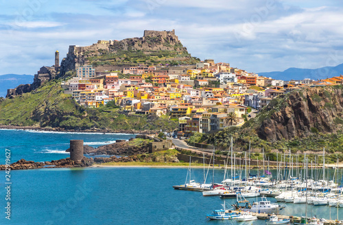 Photo  Picturesque view of Medieval town of Castelsardo, province of Sassari, Sardinia, Italy