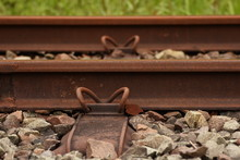 Train Track In Germany.2017,detail,