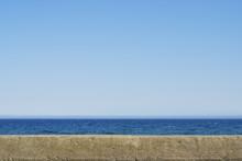 堤防 海 空 素材