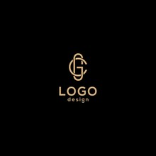 Vector Logo Design,initials C G