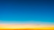 Sunrise in the sky with blue and orange natural background.