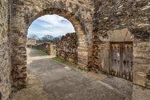 Inside The Mission Gate - San Antonio, Texas