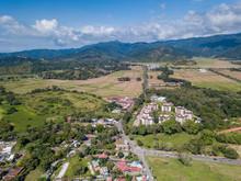 Beautiful Aerial View Of Jaco Beach In Costa Rica