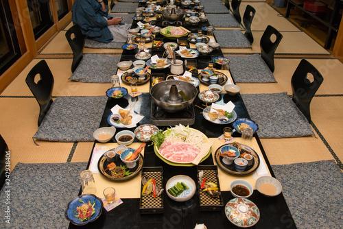 Obraz na plátne 旅館の食事