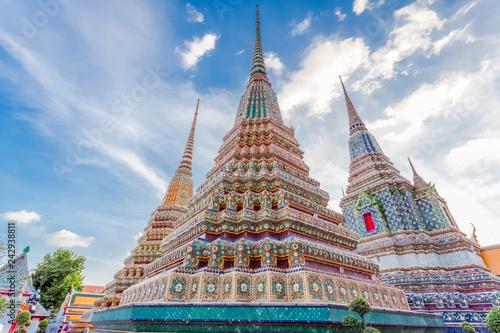 Staande foto Asia land pagodes du temple de Wat Pho, Bangkok, Thaïlande