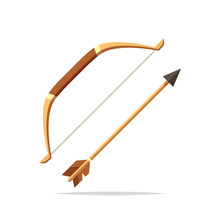 Bow And Arrow Vector Isolated Illustration
