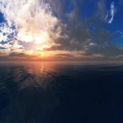 Beautiful sea sunset, sunrise over the water