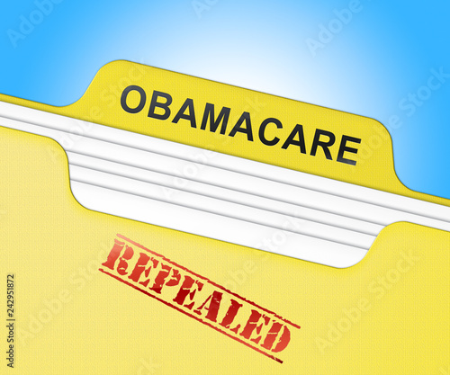 Obamacare Repeal Or Replace American Healthcare Reform - 3d Illustration Slika na platnu