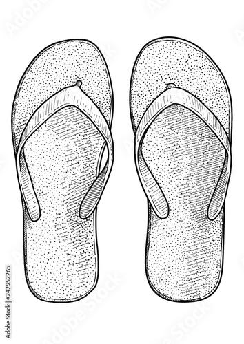a22fc9207469d7 FLip flop illustration