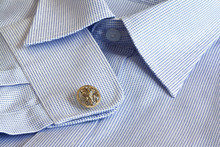Blue And White Cotten Men Shir...