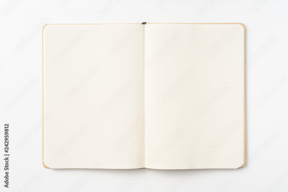 Fototapety, obrazy: Top view of kraft paper notebook, page