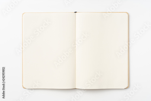 Top view of kraft paper notebook, page Billede på lærred