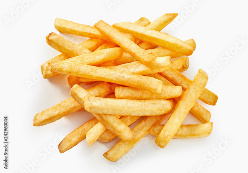 Tablou Canvas Long cut of french fries in flat lay view