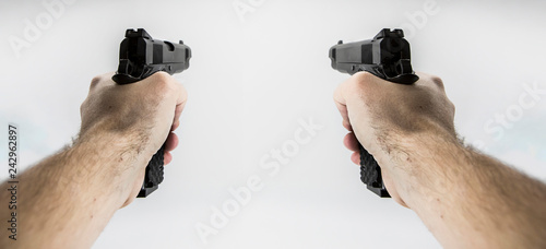 фотографія  first person shooter pistol