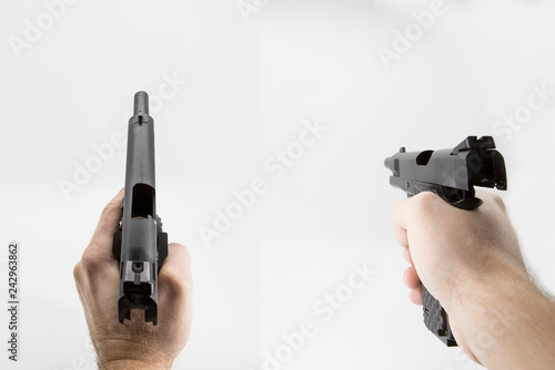 Photo  first person shooter pistol