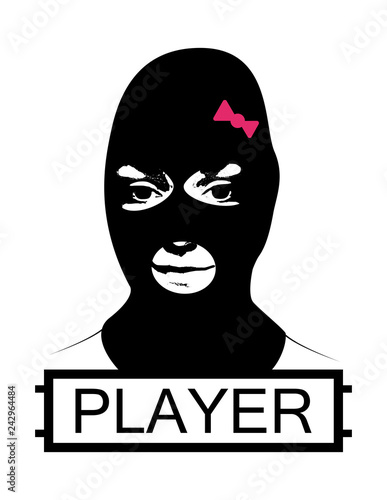 Masked Girl Pubg Concept Playerunknown S Battlegrounds Logotype