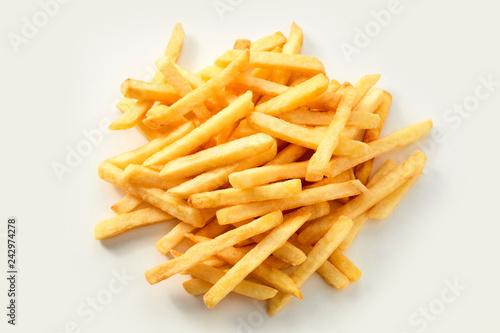 Fototapeta Fresh oven baked healthy potato chips obraz
