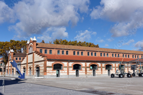 Matadero Madrid Pavilions - Cultural  center, industrial architecture in  Arganz Canvas Print