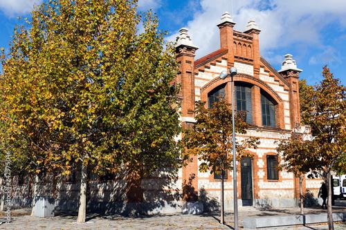 Matadero Madrid pavilion - Cultural center, industrial architecture of former sl Wallpaper Mural